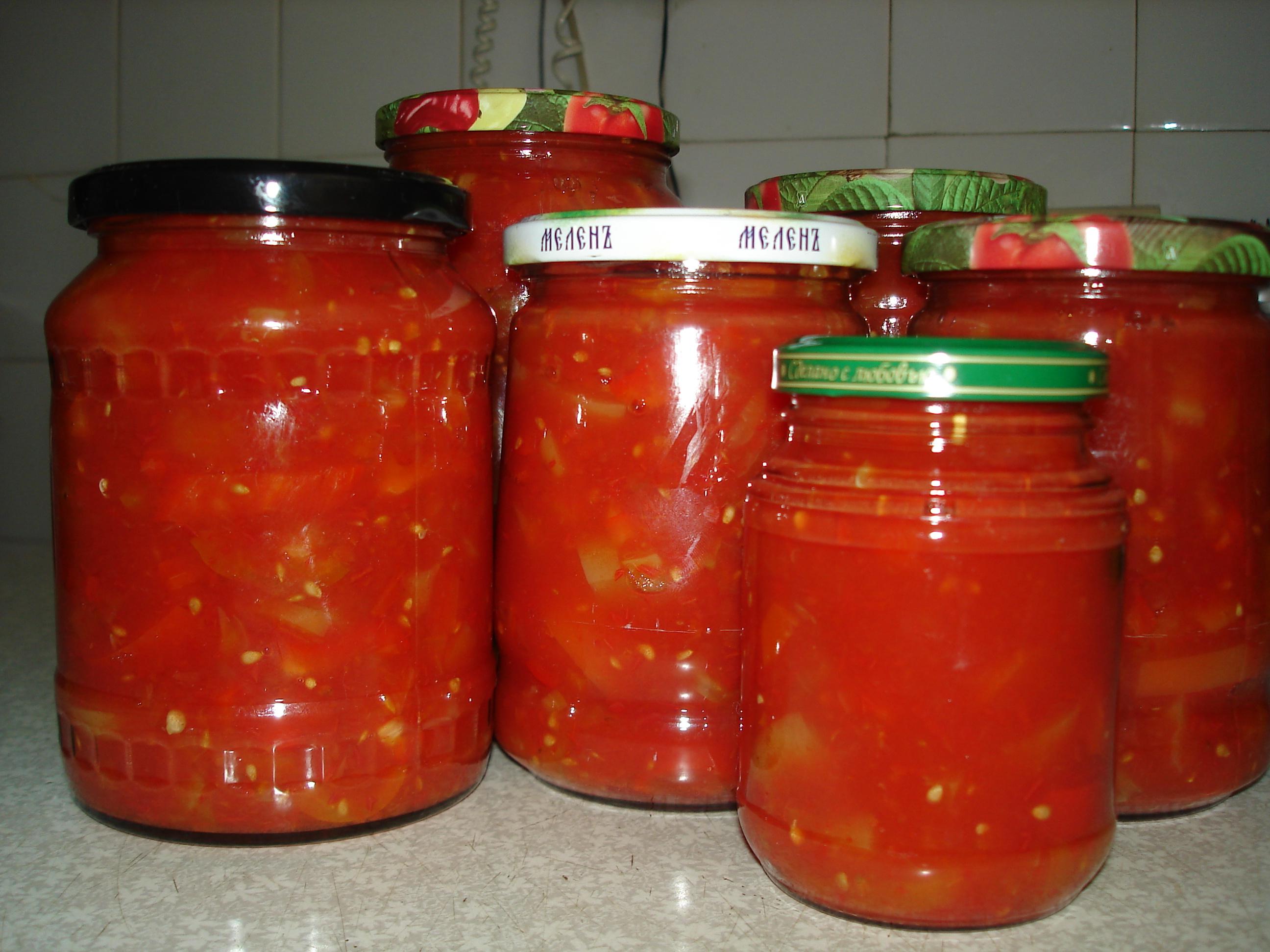 как приготовить лечо на зиму из перца и томатной пасты