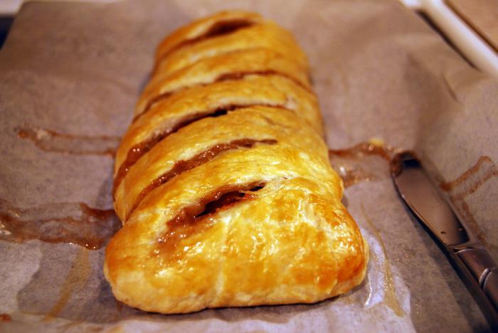 Штрудель слоеное тесто с яблоками рецепт 152