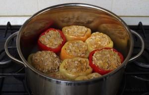 как приготовить фаршированные перцы в духовке