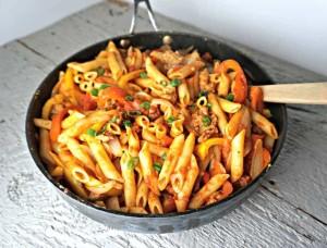 макароны в сковородке без предварительной варки